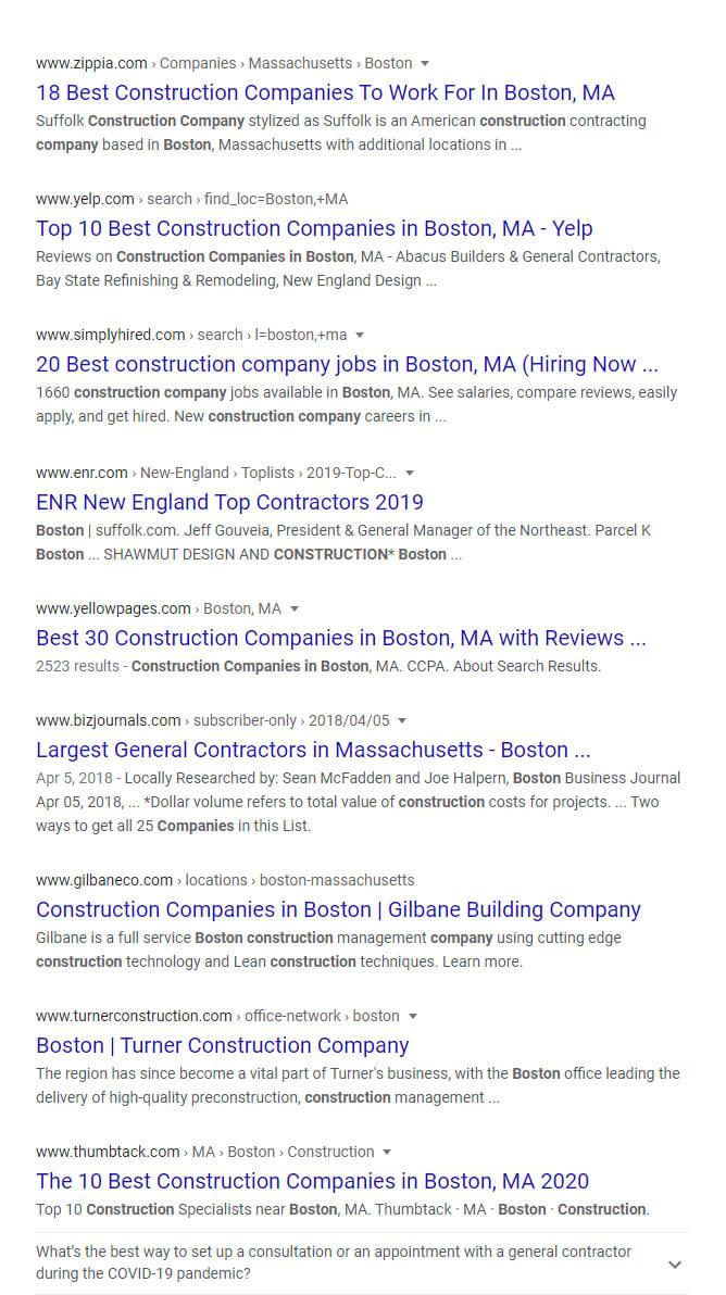 boston construction companies