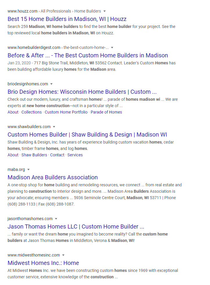 residential construction builders madison wisconsin