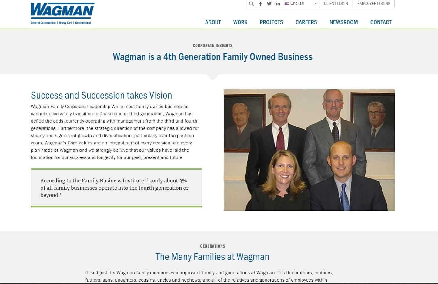 wagman construction family