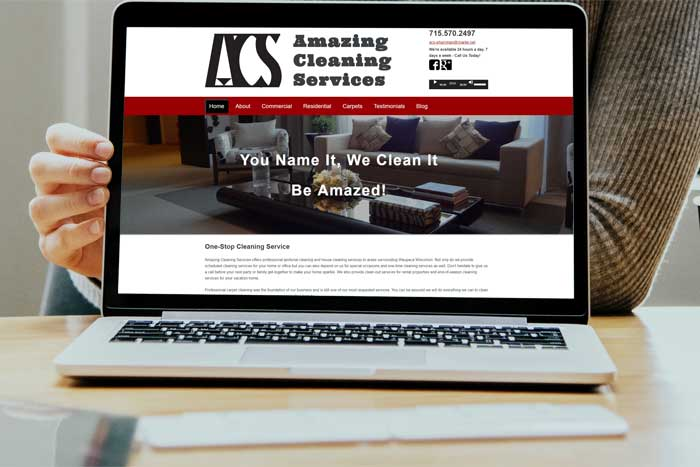 custom web design for amazing cleaning services Waupaca, WI