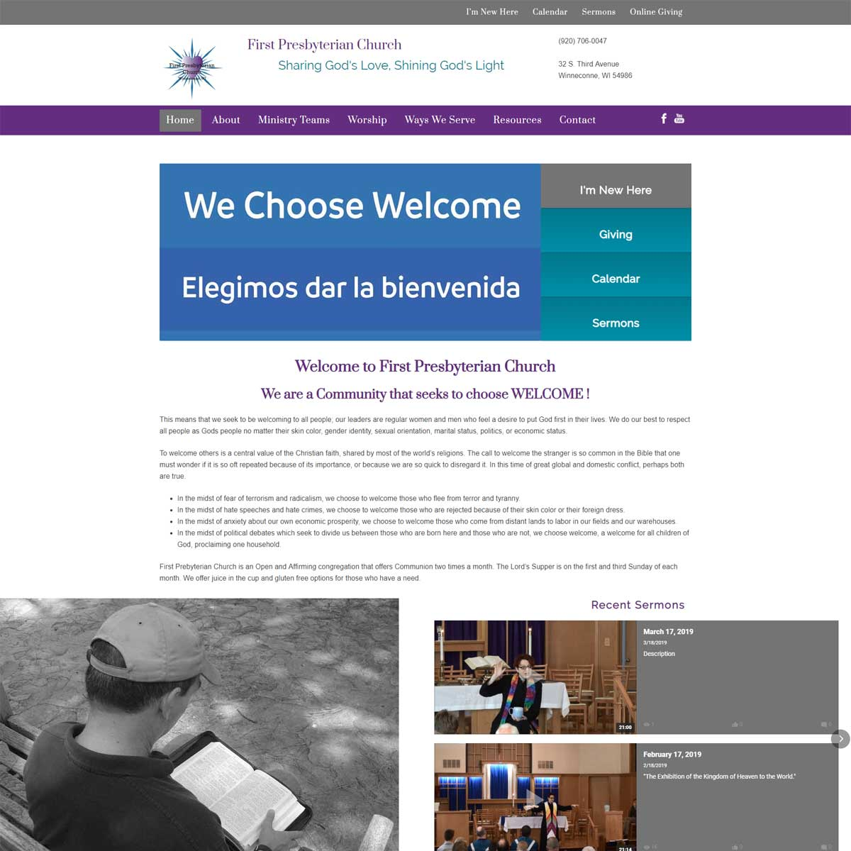 fpc winneconne website portfolio