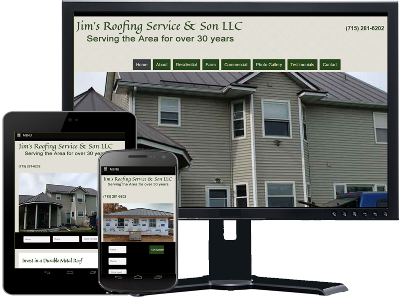 jims steel roofing responsive website