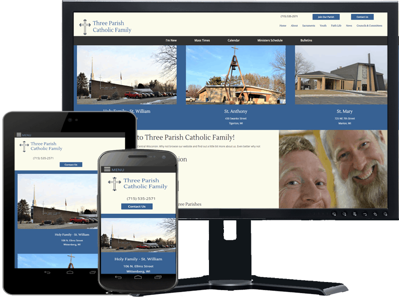 three parish catholic family responsive design