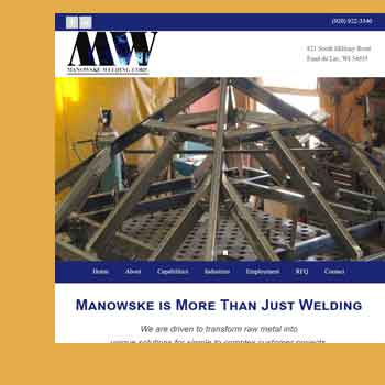 web design fond du lac - manowske welding