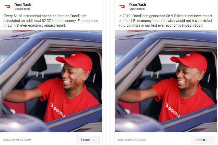a b test facebook ads body copy