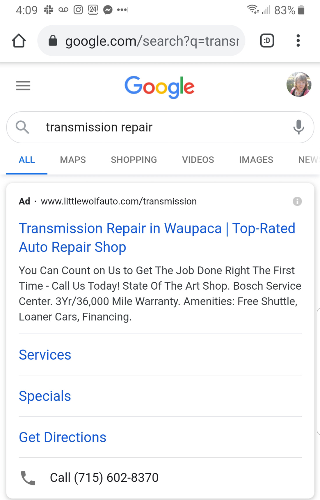 google ads mobile location extension