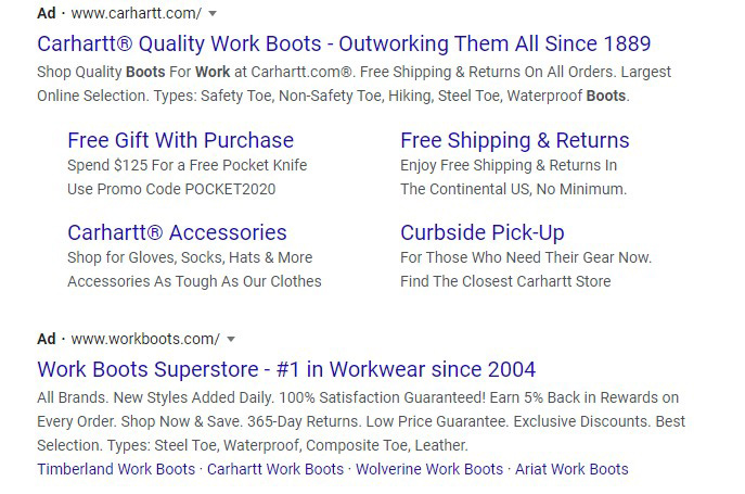 structured snippet google ads extension